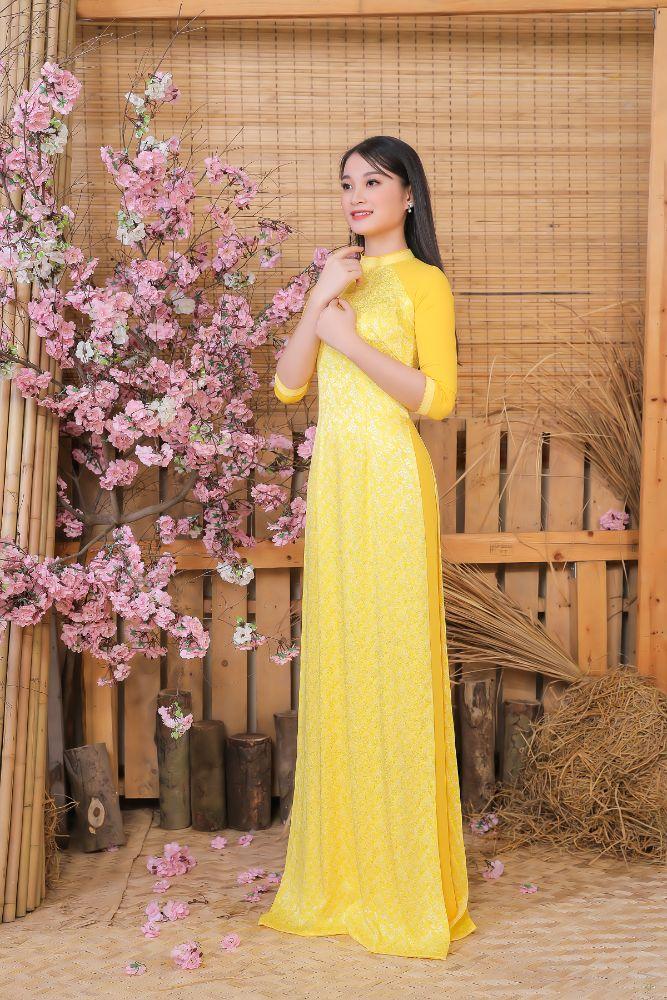 1418dc9af87a8cdf3eaca5e4d625297b Top 20 Miss HUTECH 2021 diện Áo dài Việt Hùng, khoe nhan sắc lộng lẫy