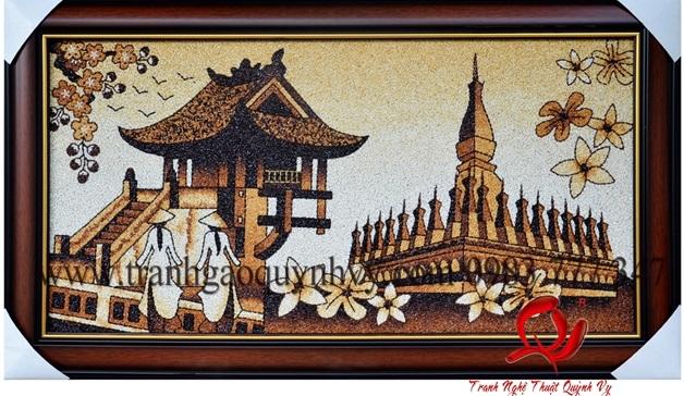 a0b8870560741041cad3160d388927d4 Tranh gạo Quỳnh Vy và hành trình 10 năm lan tỏa giá trị nghệ thuật