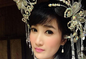 Quỳnh Lam hóa thân thành nàng tiên xinh đẹp