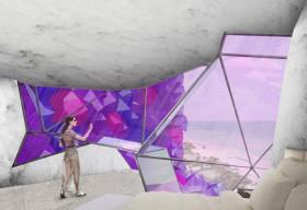 Khách sạn hình khối thạch anh tím khổng lồ độc nhất thế giới