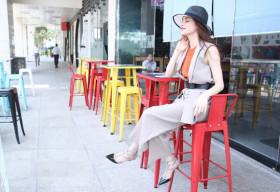 Hà Hồ 'châm ngòi' xu hướng mix quần culottes + vest