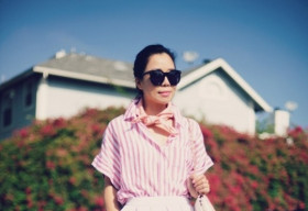 Phái đẹp châu Á nhấn màu tươi tắn cho street style đầu tháng 8