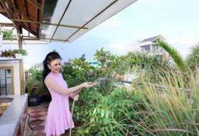 Không gian sống ngập tràn tình yêu thiên nhiên của Hoa hậu Janny Thủy Trần