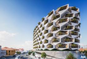 Độc lạ với tòa nhà 'tổ ong' xanh mướt giữa đô thị