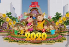 Đường hoa Nguyễn Huệ Xuân Canh Tý 2020: Đẹp, hiện đại, thân thiện môi trường