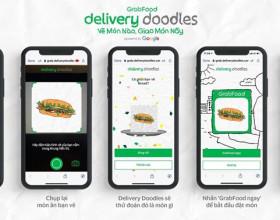Grab Delivery Doodles 'biến' những bức vẽ của trẻ nhỏ thành món ăn nóng sốt