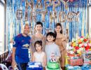 Vợ chồng Xuân Lan đưa bé Thỏ đến mừng sinh nhật con trai Trương Quỳnh Anh