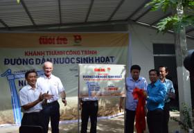 Khánh thành đường dẫn nước sinh hoạt cho 64 hộ dân tại ấp Ba Núi, huyện Kiên Lương