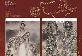 Tác giả 'Bánh mì' và 'cà phê phin sữa đá' trở lại với cuộc thi thiết kế trang phục dân tộc Miss Universe 2020