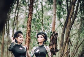 Hoa hậu Huyền Trân, Lâm Thu Hồng duyên dáng trong BST Đại sứ áo dài của NTK Việt Hùng
