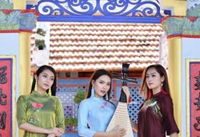 Hoa hậu Huyền Trân, Lâm Thu Hồng, Trân Phạm hóa quý cô đài các trong Áo dài Việt Hùng