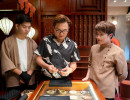 Đại Nghĩa, Thu Trang nhiệt tình ủng hộ showroom đá phong thủy Tinh Lâm của Huỳnh Lập