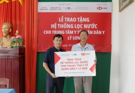 HSBC Việt Nam và VinaCapital Foundation trao tặng hệ thống lọc nước tại đảo Lý Sơn