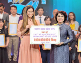 Tiên Nguyễn tiếp tục ủng hộ người nghèo Thành phố Hồ Chí Minh 1 tỷ đồng