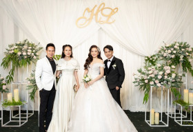 Vợ chồng Lý Hải – Minh Hà chiếm hết spotlight khi đi ăn cưới