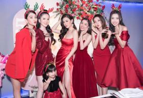 Dàn hậu quy tụ mừng Á hậu Diễm Trang kỷ niệm đám cưới 5 năm trong đêm Giáng sinh