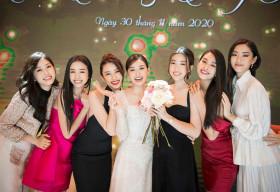 Á hậu Tường San hạnh phúc lên xe hoa tuổi 20, dàn hoa hậu đình đám đến mừng
