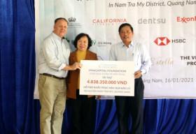 VinaCapital Foundation chung tay khắc phục hậu quả bão lũ tại Nam Trà My, Quảng Nam