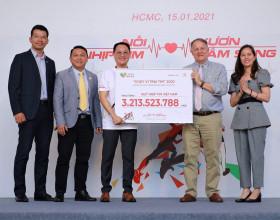 Trên 3 tỷ đồng được quyên góp từ chương trình 'Chạy vì trái tim 2020'