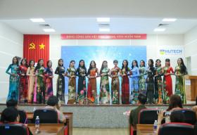 TOP 20 Miss HUTECH 2021 đẹp lộng lẫy với Áo dài của NTK Việt Hùng