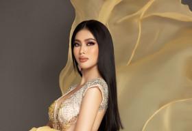 Á hậu Ngọc Thảo diện đầm dạ hội nổi bật, hô vang 'Việt Nam' tại Miss Grand International