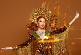 Cận cảnh bộ Quốc phục nặng gần 30kg của Ngọc Thảo tại Miss Grand International 2020