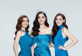 Lương Thuỳ Linh, Kiều Loan, Tường San đọ sắc vóc trong bộ ảnh khởi động Miss World Vietnam 2021