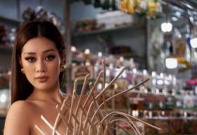 Hoa hậu Khánh Vân quảng bá TP.HCM thông qua trang phục tại Miss Universe
