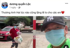 MC Quyền Linh 'đi chợ' giúp em trai Đạo diễn Quyền Lộc trong khu vực phong tỏa