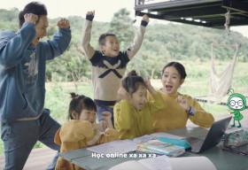 Lý Hải – Minh Hà cùng các con tự làm MV hài hước về học online