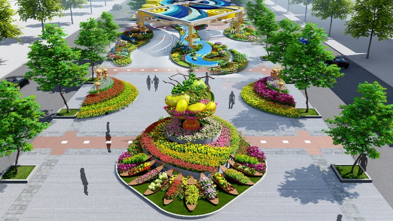 Xuan sung tuc Đường hoa Nguyễn Huệ Xuân Canh Tý 2020: Đẹp, hiện đại, thân thiện môi trường