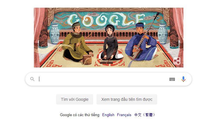 GoogleDoodle CaTru Google tôn vinh Ca Trù nhân ngày Giỗ tổ nghiệp