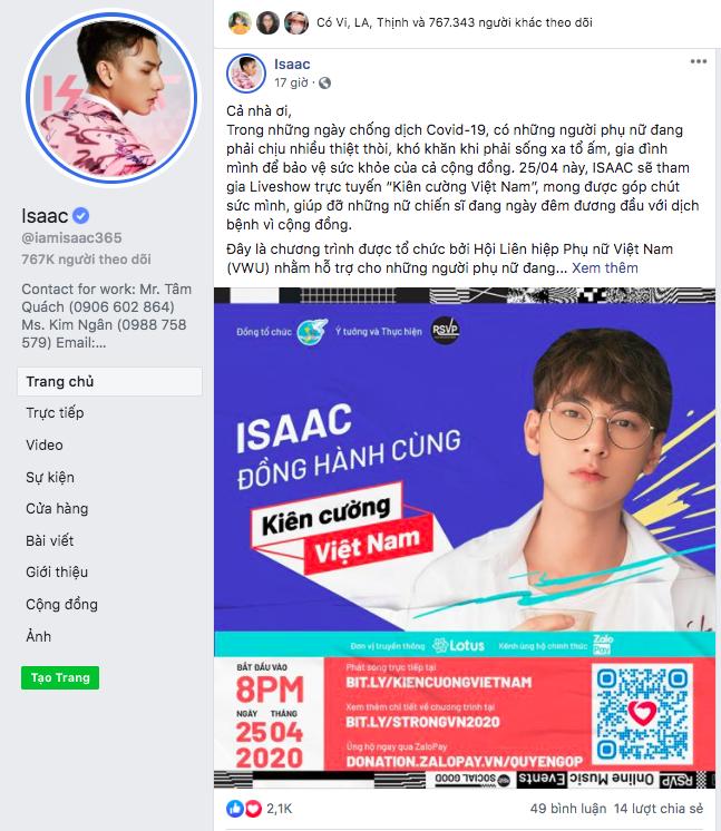 3 ISAAC RSVP Event Kien Cuong Viet Nam Nghệ sĩ Việt kêu gọi cộng đồng đừng vội ăn mừng, để chắc thắng đại dịch Covid 19