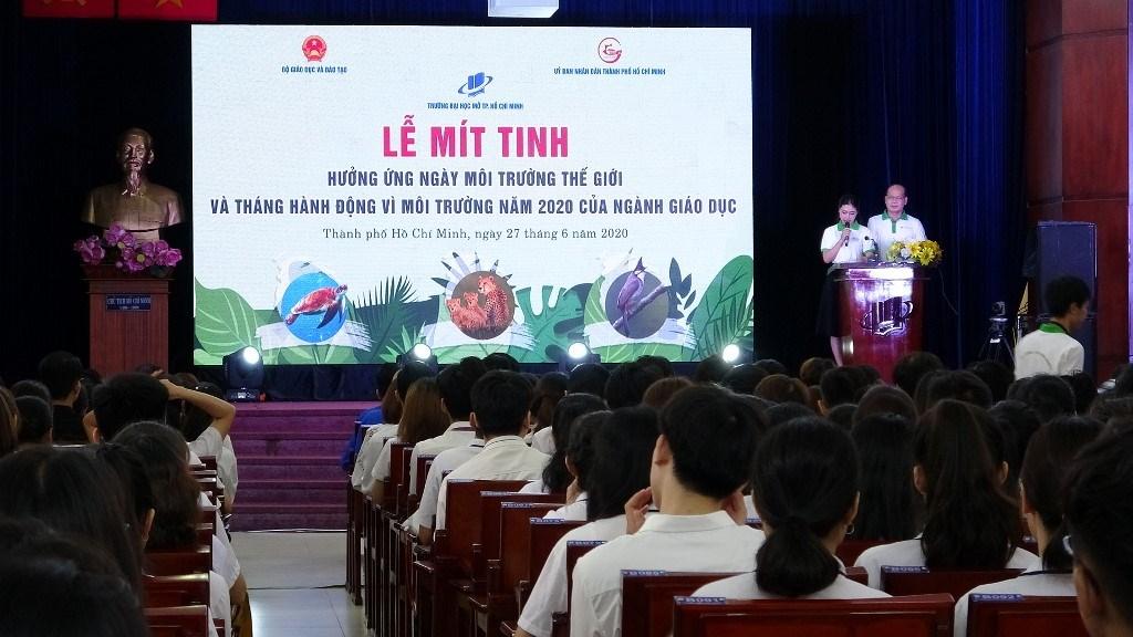 le mitting Lễ Mít tinh kỷ niệm Ngày Môi trường thế giới và Tháng hành động vì môi trường năm 2020