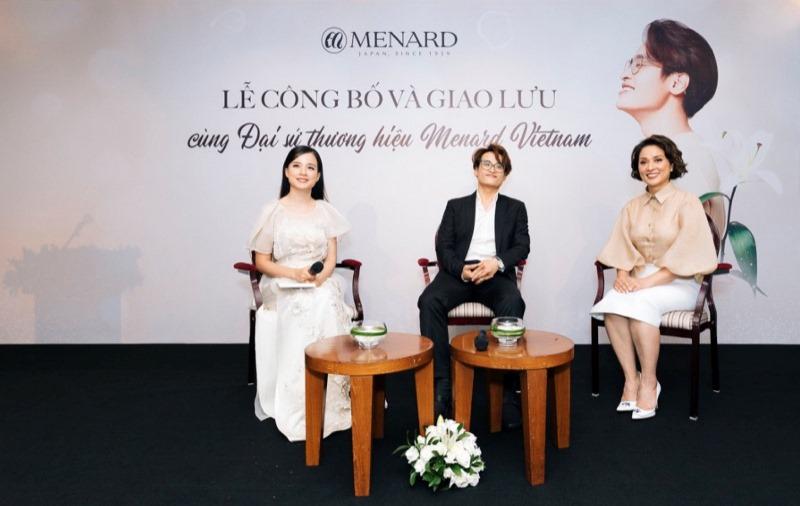 Bà Lê Thanh Hương Tổng Giám Đốc Menard VN Ca Sĩ Hà Anh Tuấn 5 Hà Anh Tuấn trở thành đại sứ thương hiệu mỹ phẩm cao cấp Menard Việt Nam