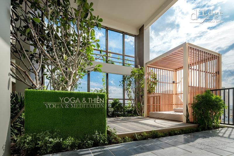 dEdge Yoga deck d'Edge Thảo Điền gây ấn tượng với nhiều tiện ích đẳng cấp cho cư dân