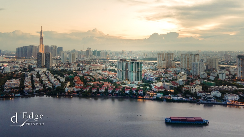 dEdge facade d'Edge Thảo Điền gây ấn tượng với nhiều tiện ích đẳng cấp cho cư dân