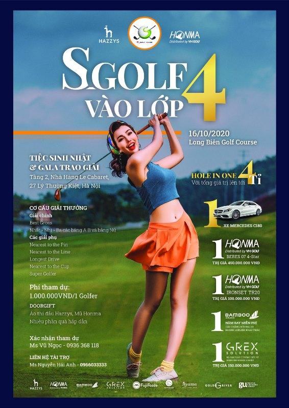 s gof 3 S golf Club tổ chức giải Golf có tên đặc biệt Vào lớp 4