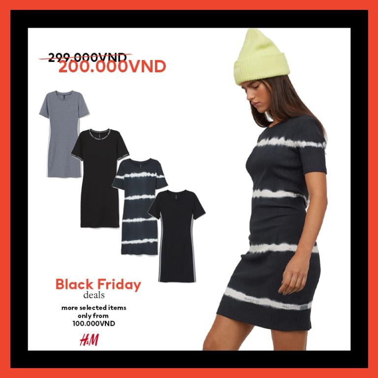 HM thời trang HM Black Friday 8 Bùng nổ ưu đãi cùng H&M trong sự kiện mua sắm Black Friday