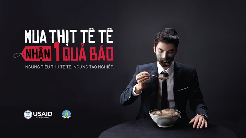 USAID final KV Tete Khởi động chiến dịch Ngưng Tạo Nghiệp, kêu gọi chấm dứt thói quen tiêu thụ động vật hoang dã