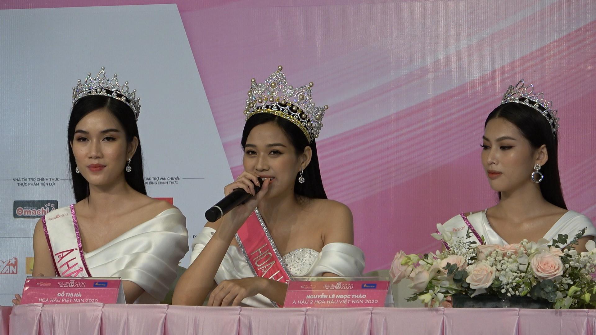 top 3 hhvn Tân Hoa hậu Việt Nam 2020 Đỗ Thị Hà đầy bản lĩnh trả lời các chất vấn hậu đăng quang