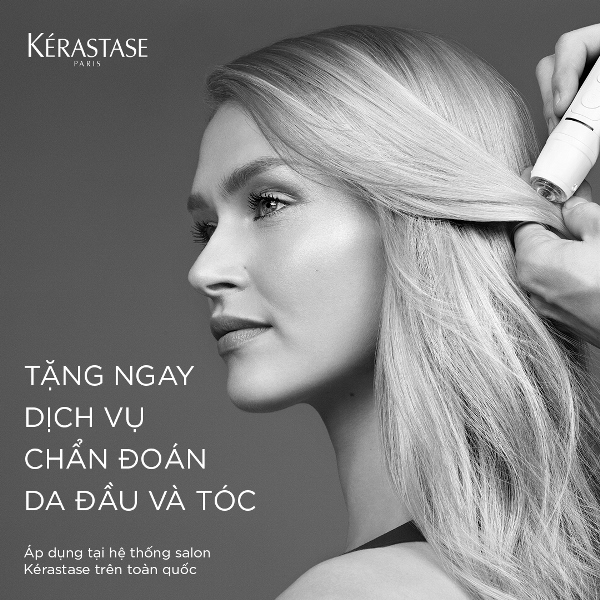 Dịch vụ chẩn đoán da đầu và tóc miễn phí hệ thống salon Kérastase chăm sóc tóc 1 Quà tặng mùa giáng sinh cho mái tóc của bạn và những người yêu thương
