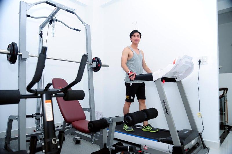 Phòng Gym 1 Không gian sống đơn giản nhưng đầy tinh tế của ca sĩ Hồ Việt Trung