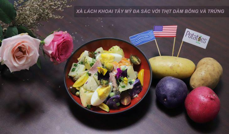 SALAD KHOAI TAY Bếp trưởng Lê Xuân Tâm truyền nghề món ngon từ khoai tây Mỹ cực hấp dẫn, dễ làm