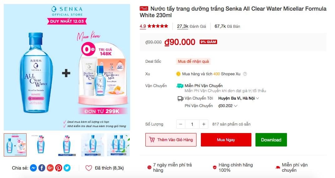 shopee 3 Soi nhanh 5 sản phẩm đình đám từ Senka và Anessa bán ào ào trên Shopee, liệu có đáng để mua!