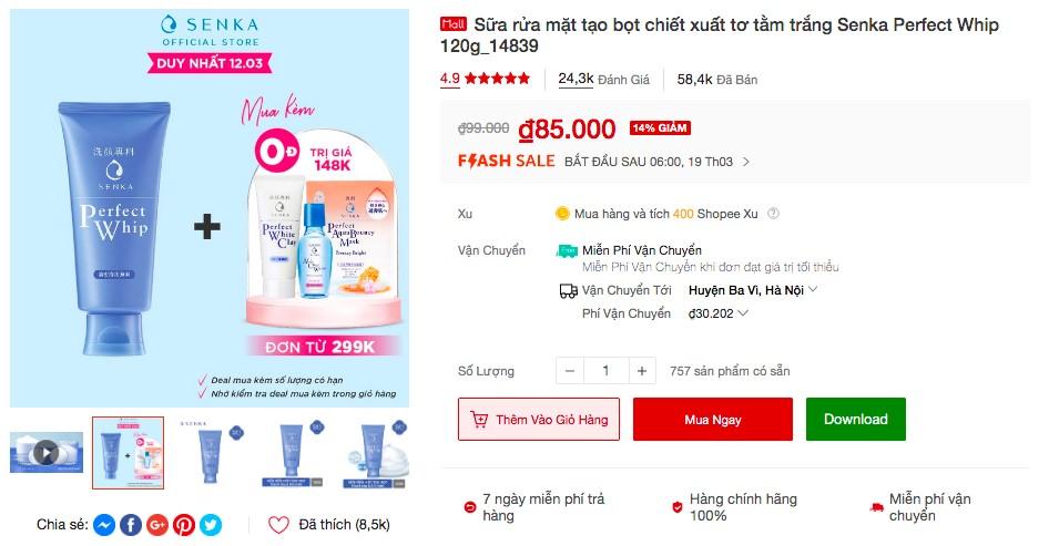 shopee 5 Soi nhanh 5 sản phẩm đình đám từ Senka và Anessa bán ào ào trên Shopee, liệu có đáng để mua!