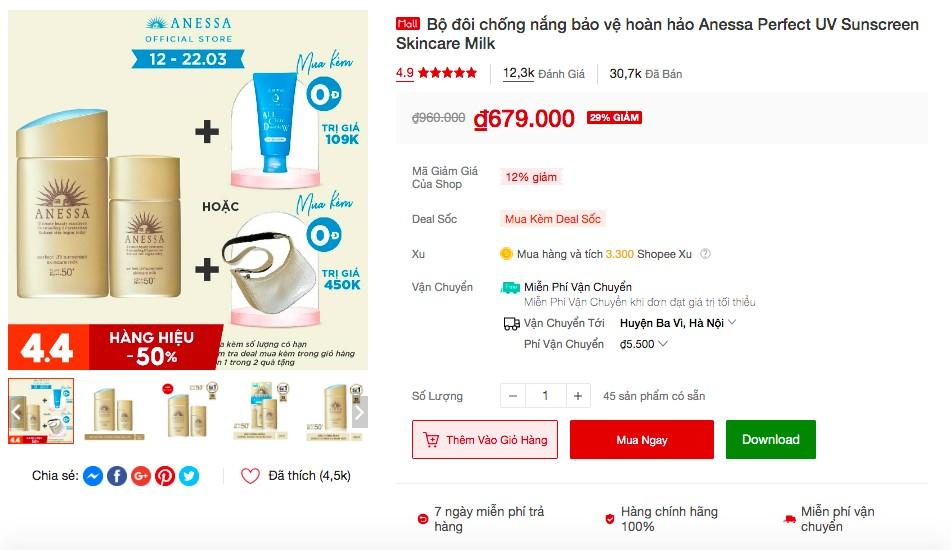 shopee 7 ok Soi nhanh 5 sản phẩm đình đám từ Senka và Anessa bán ào ào trên Shopee, liệu có đáng để mua!