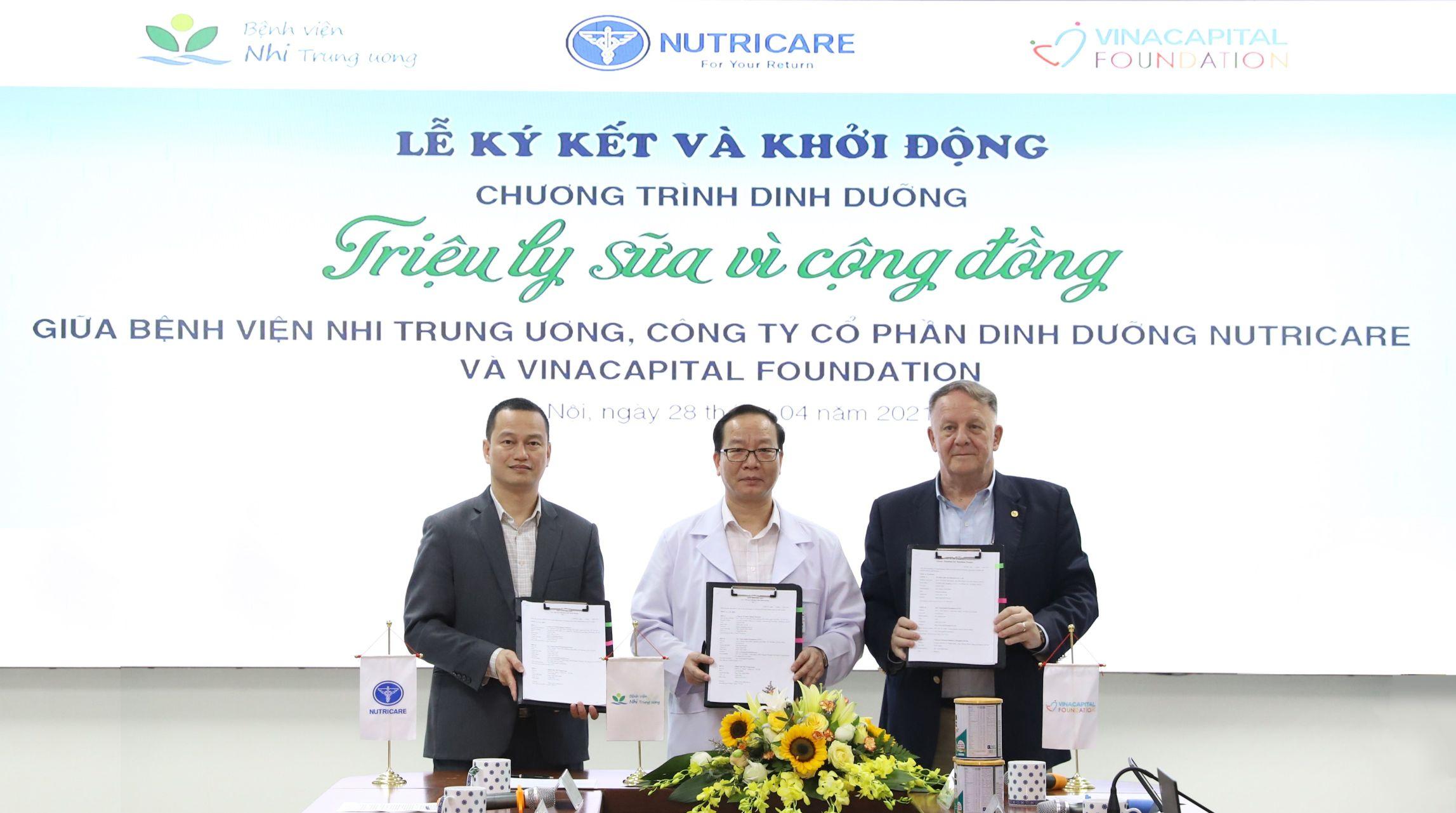 Ký kết Thỏa thuận hợp tác giữa Bệnh viện Nhi Trung ương CTCP Dinh dưỡng Nutricare và VinaCapital Foundation VinaCapital Foundation phát động chương trình dinh dưỡng cho bệnh nhi ung thư