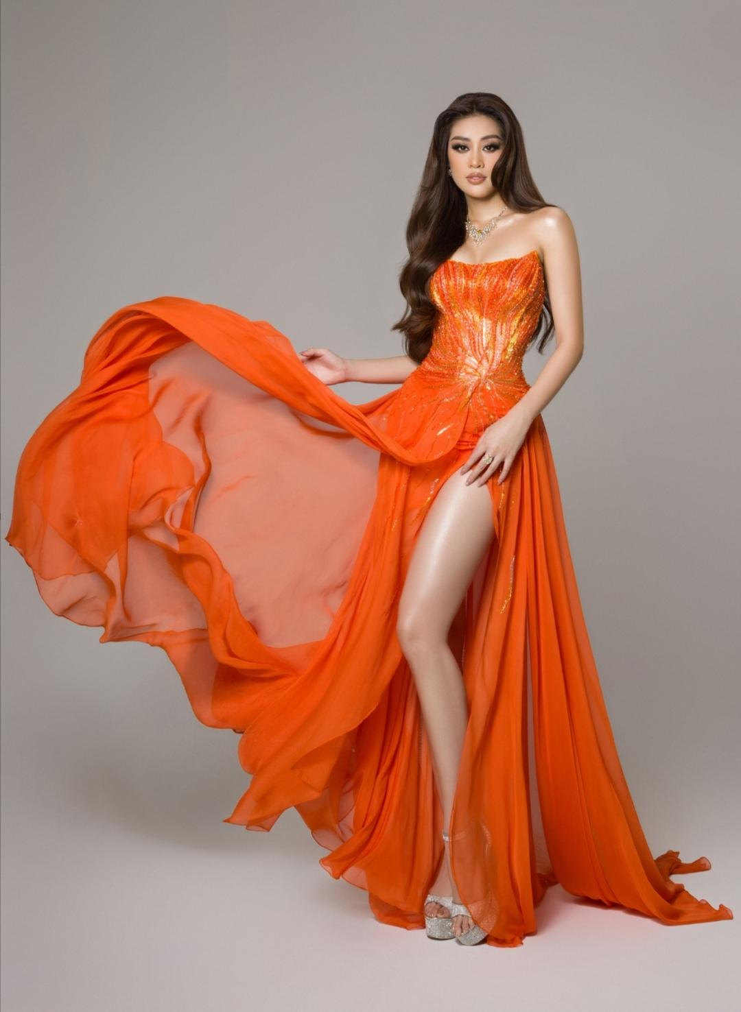 Screenshot 20210515 152706 Hoa hậu Khánh Vân diện trang phục dạ hội lấy cảm hứng từ hừng đông tại bán kết Miss Universe