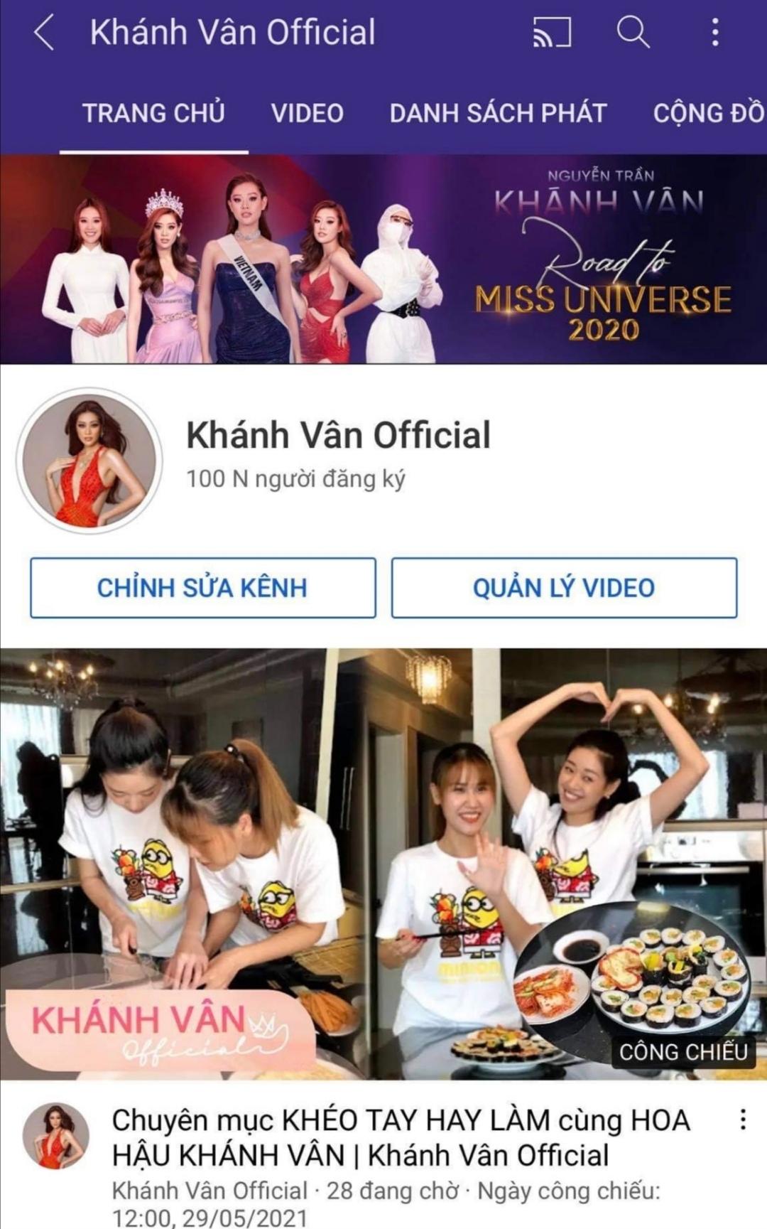 Screenshot 20210530 095255 Mừng kênh Youtube được nút Bạc, Hoa hậu Khánh Vân tung bộ ảnh bình minh rực rỡ